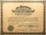 Oklahoma State Board of Medical Examiners Certificate